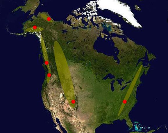 Gebirge Der Welt Nordamerika
